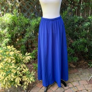 Forever 21 Size L Solid Royal Blue Maxi Skirt